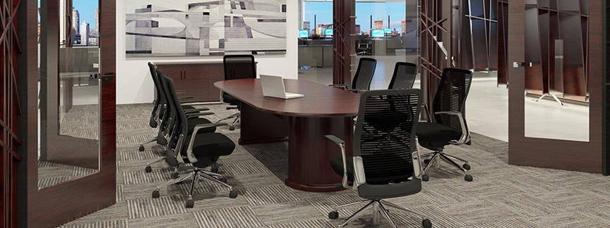 Cherryman Emerald Conference Table and Chairs