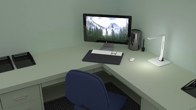 Corner Computer Desk in Milwaukee Office