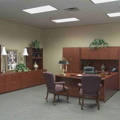 Private Office Furniture for Kenosha Business Helped Update The Company's Dated Look